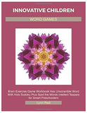 INNOVATIVE CHILDREN WORD GAMES: Brain Exercise Game Workbook Has Unscramble Word With Kids Sudoku