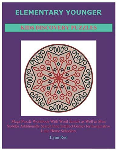 Elementary Younger Kids Discovery Puzzles: Mega Puzzle Workbook With Word Jumble