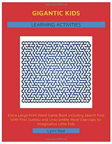 Gigantic Kids Learning Activities: Extra Large Print Word Game Book Including Search Find