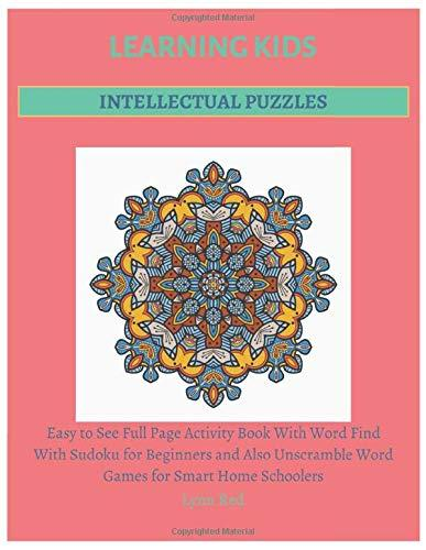 Learning Kids Intellectual Puzzles: Easy to See Full Page Activity Book With Word Find