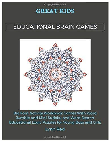 Great Kids Educational Brain Games: Big Font Activity Workbook Comes With Word Jumble