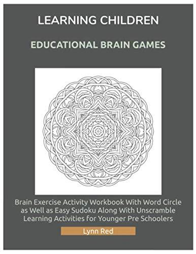 Learning Children Educational Brain Games: Brain Exercise Activity Workbook With Word Circle