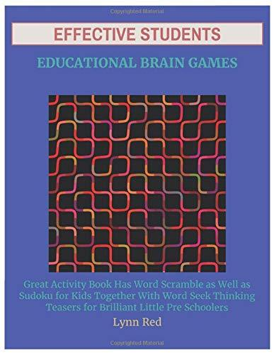 Effective Students Educational Brain Games: Great Activity Book Has Word Scramble