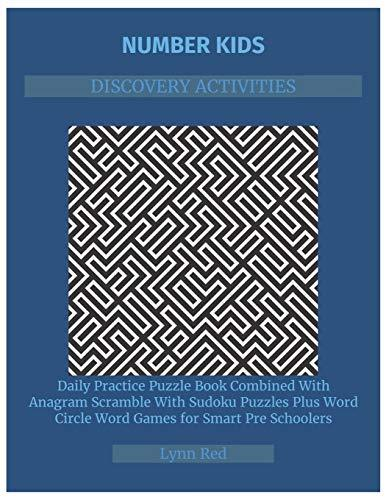 NUMBER KIDS DISCOVERY ACTIVITIES: Daily Practice Puzzle Book Combined With Anagram Scramble