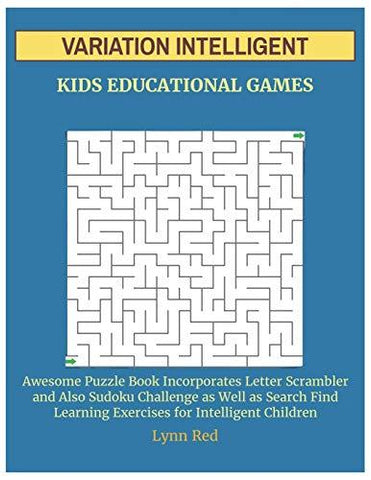 VARIATION INTELLIGENT KIDS EDUCATIONAL GAMES: Awesome Puzzle Book Incorporates Letter Scrambler