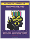 Impressive Intelligent Kids Word Activities: Easy and Fun Game Workbook With Word Scramble