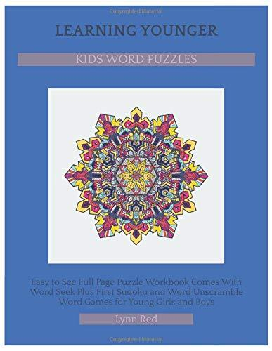 Learning Younger Kids Word Puzzles: Easy to See Full Page Puzzle Workbook Comes With Word Seek