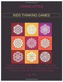 LARGE LITTLE KIDS THINKING GAMES: Super Easy Puzzle Book Combined With Word Scramble and Easy