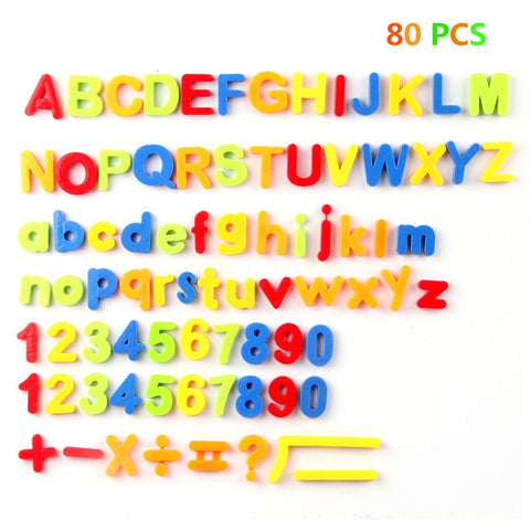80PCS/Set s Colorful Alphabet Numbers