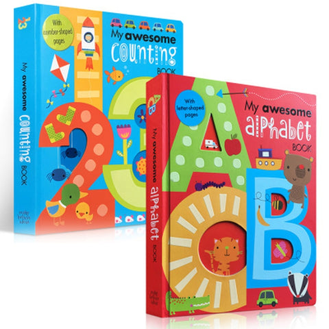 2 Set  English Cardboard  Books