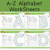 26 Letters A-Z Alphabet Digital Connection Practice Paper