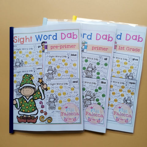 Sight Word Dab WorkSheets