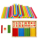 Math Manipulatives Wooden Counting Sticks