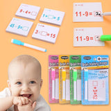 1set Montessori Mathematics Teach Card with Erasable Pen