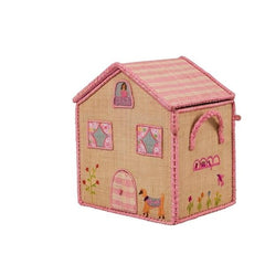 Pink House Toy Storage Basket by RiceDK