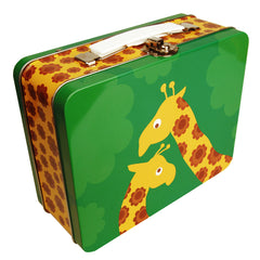 Blafre Happy Giraffe Tin Suitcase/Lunchbox