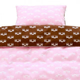Blafre Pink/Brown Deer Bed Linen