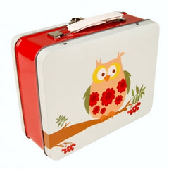 Blafre Vintage Owl Lunch Box/Tin Case