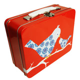Blafre Birds Red Tin Case / Lunch Box