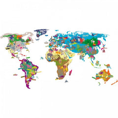 Mimi'Lou Interactive World Map Wall Sticker