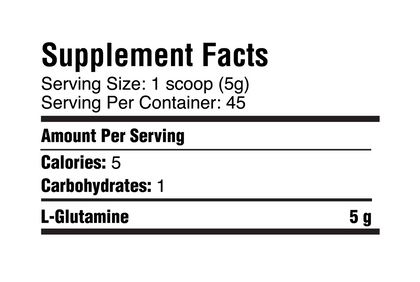Glutamine - warriorfuelsupplements.com
