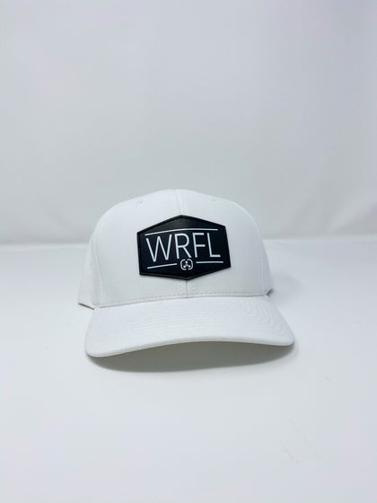 Flexfit White with Black Leather Patch - warriorfuelsupplements.com