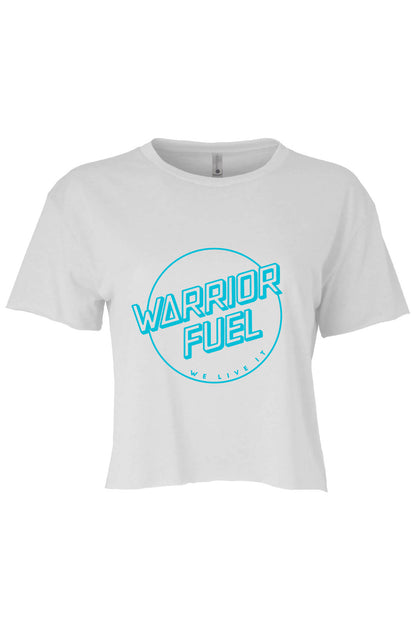 Crop Top - Teal on White - warriorfuelsupplements.com