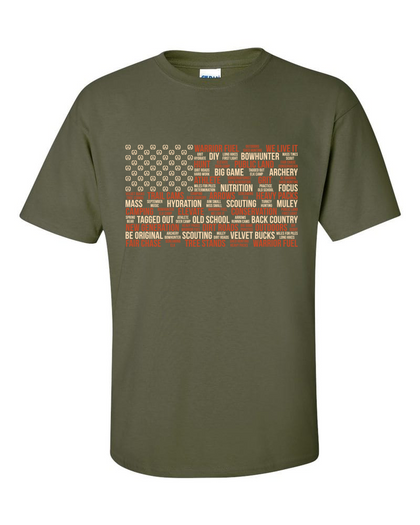Outdoorsman Flag T-Shirt - warriorfuelsupplements.com