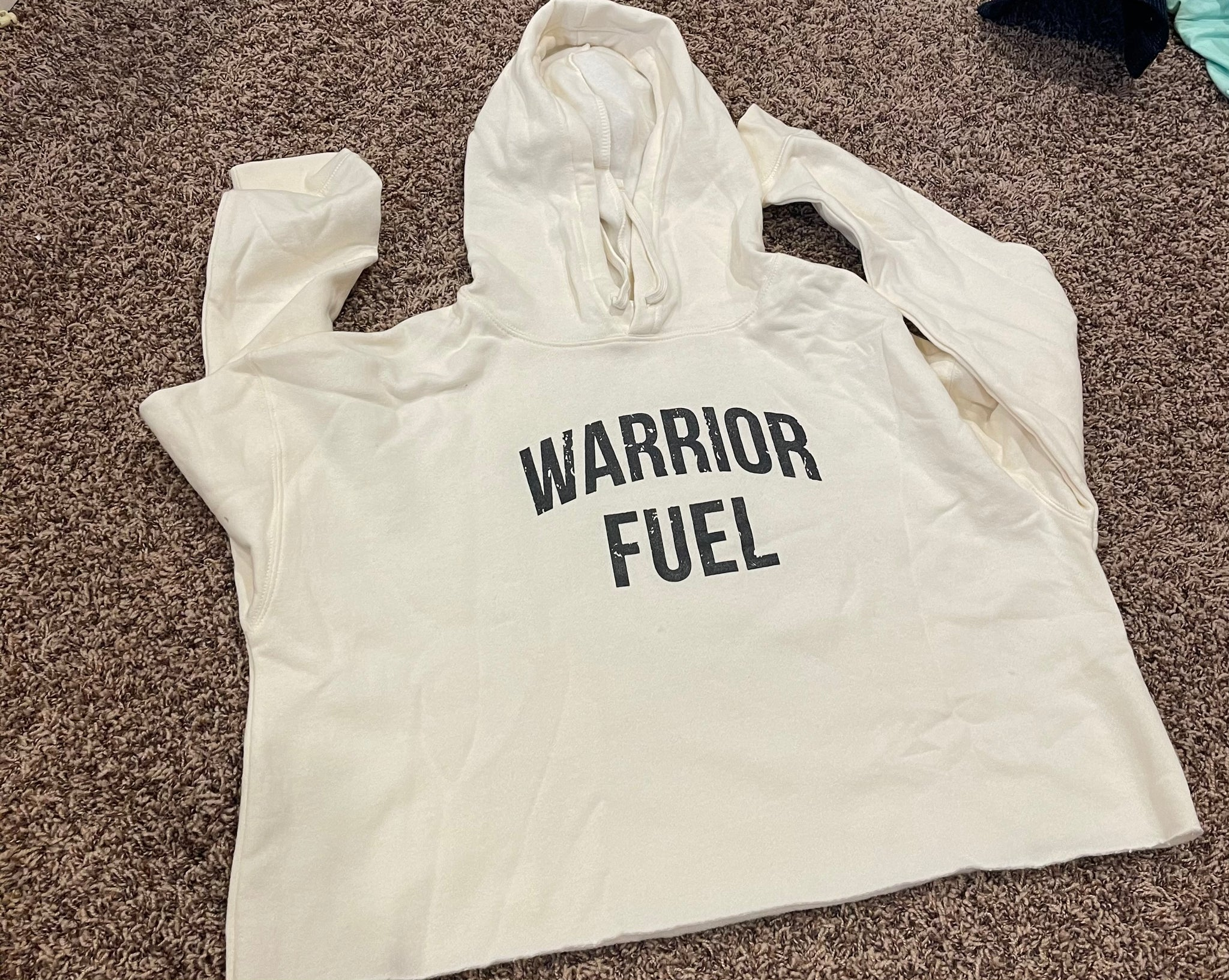 Off white crop hoody