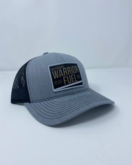 Grey and Black Outdoors hat - warriorfuelsupplements.com