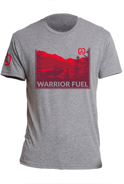 ELK Country T-Shirt (Red) - warriorfuelsupplements.com