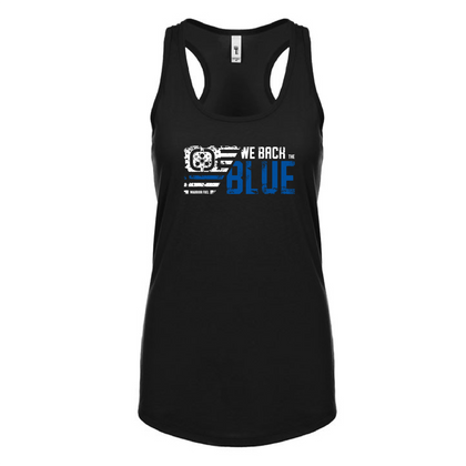 Back the Blue Razorback tank - warriorfuelsupplements.com