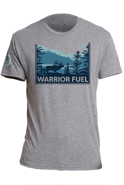 Elk Country T-Shirt (Blue) - warriorfuelsupplements.com