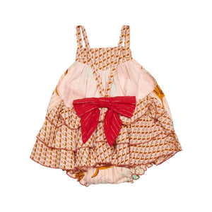 Rosie Romper in Cloud Pink Diagonal Flower
