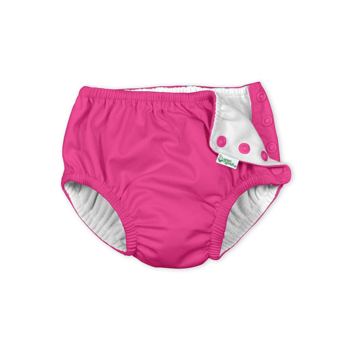 Hot Pink Snap Reusable Absorbent Swim Diaper