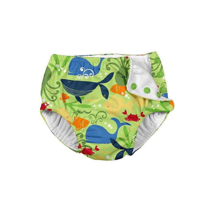 Green Sealife Snap Reusable Absorbent Swim Diaper