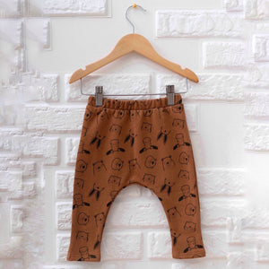 Animal Sweatpants in Rust