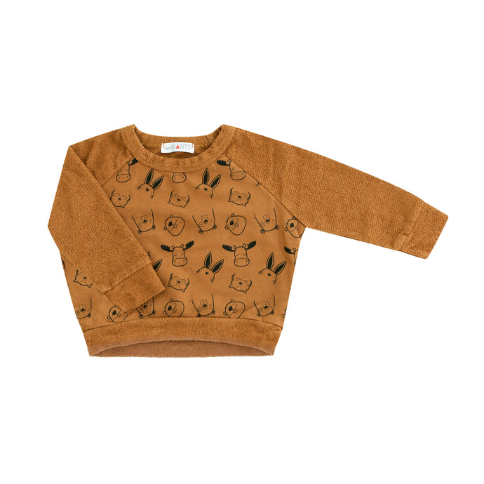 Animal Sweatshirt in Rust