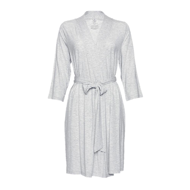 Posh Peanut Athletic Gray Heather Mommy Robe