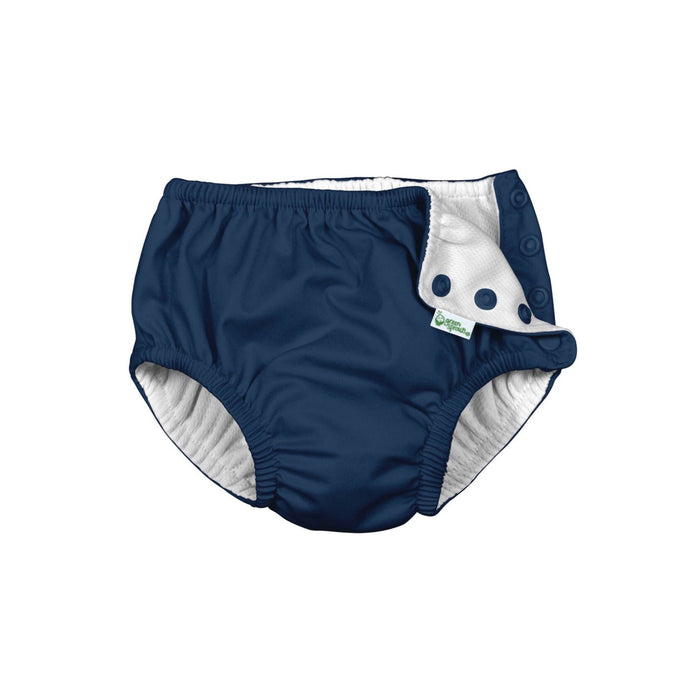 Navy Snap Reusable Absorbent Swim Diaper