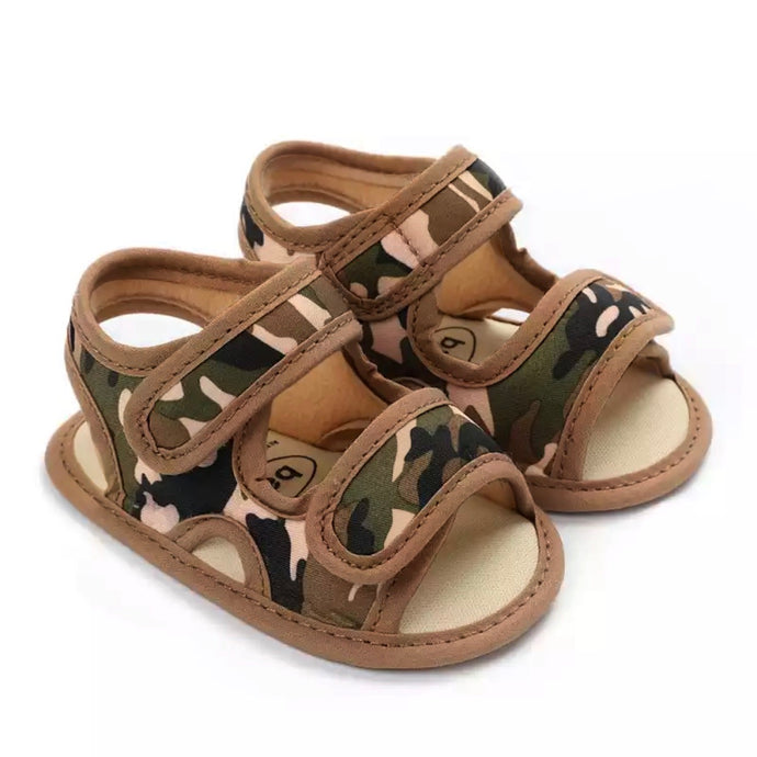 Baby Camo Walker Sandals in Beige