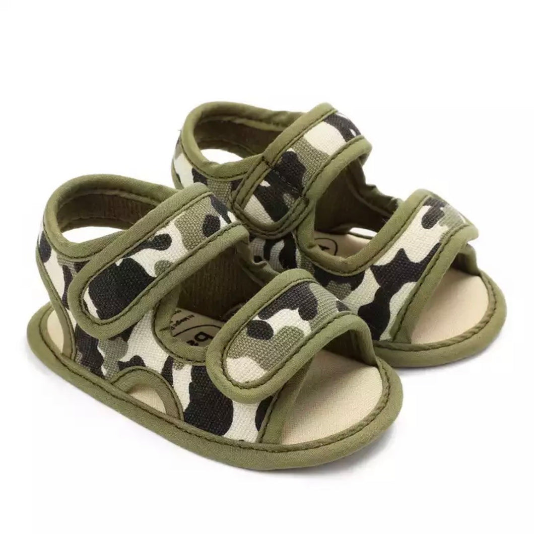 Baby Camo Walker Sandals in Green