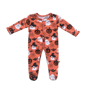 Baby Ghost Bamboo Snap Footed Onesie