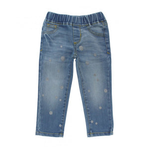 Baby Light Wash Denim Dot Jeggings