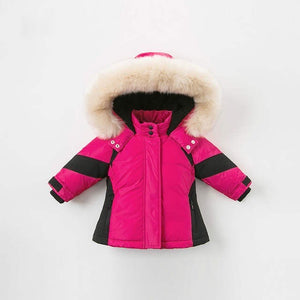 Hot Pink Racer Baby Parka