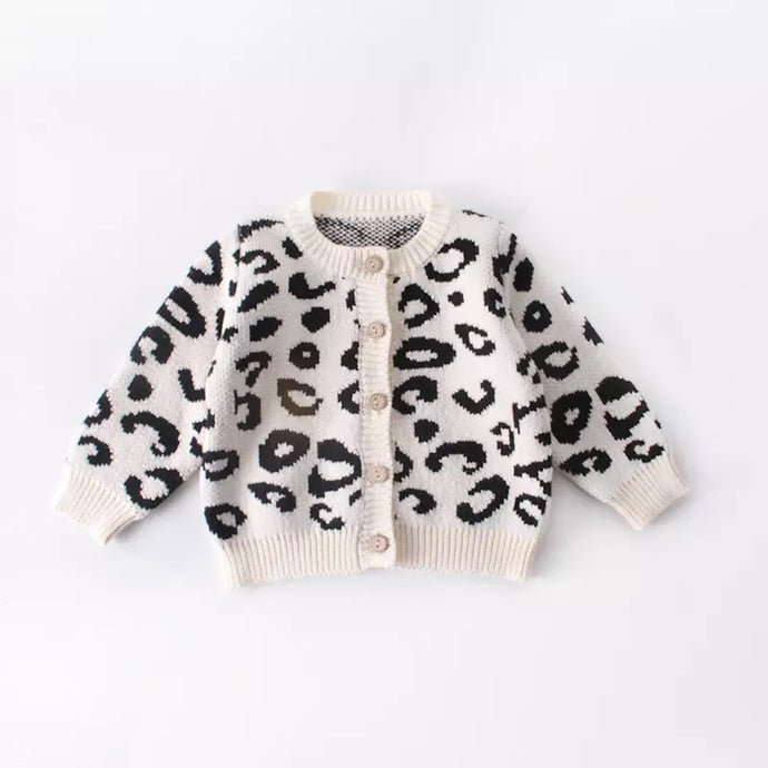 Bright Jungle Fever Leopard Baby Cardigan