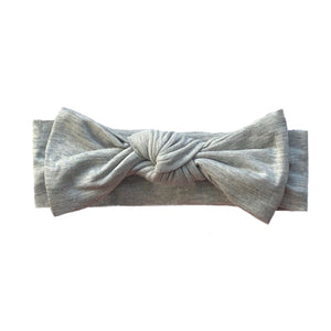 Bamboo Solid Baby Headband in Heather Gray