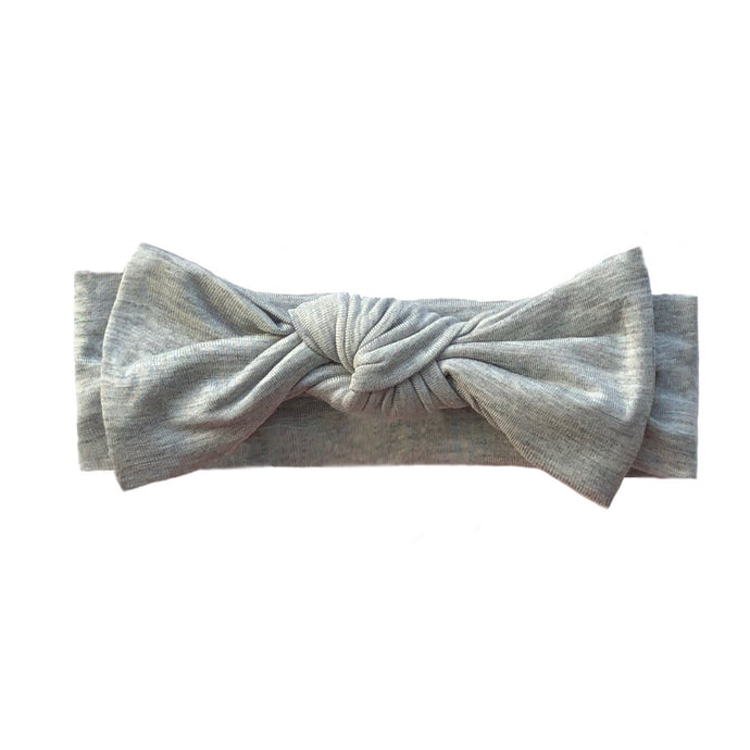 Bamboo Solid Headband in Heather Gray