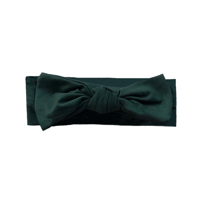 Bamboo Solid Baby Headband in Forest Green