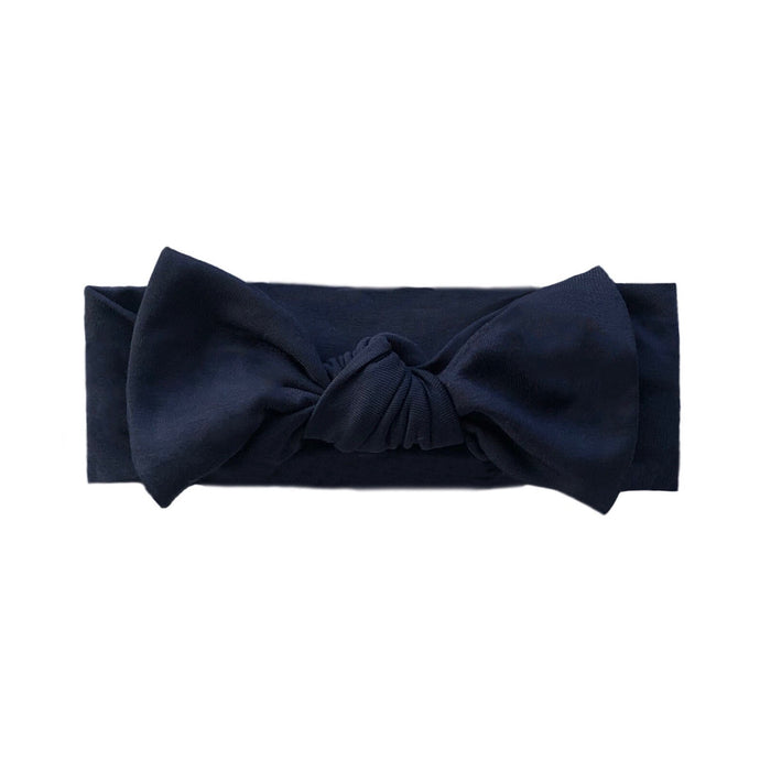 Bamboo Solid Headband in Navy